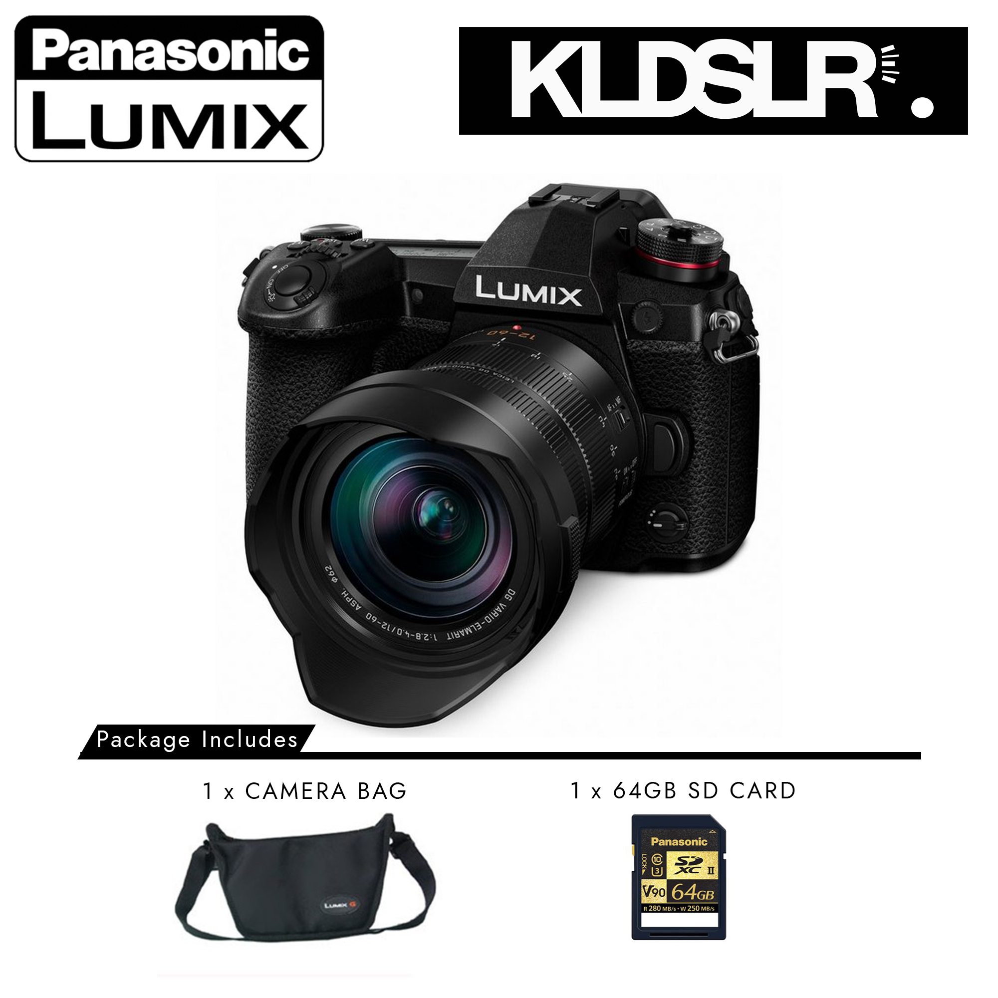 Panasonic Lumix DC-G9 Mirrorless Micro Four Thirds Digital Camera with 12-60mm Lens (Panasonic Malaysia)
