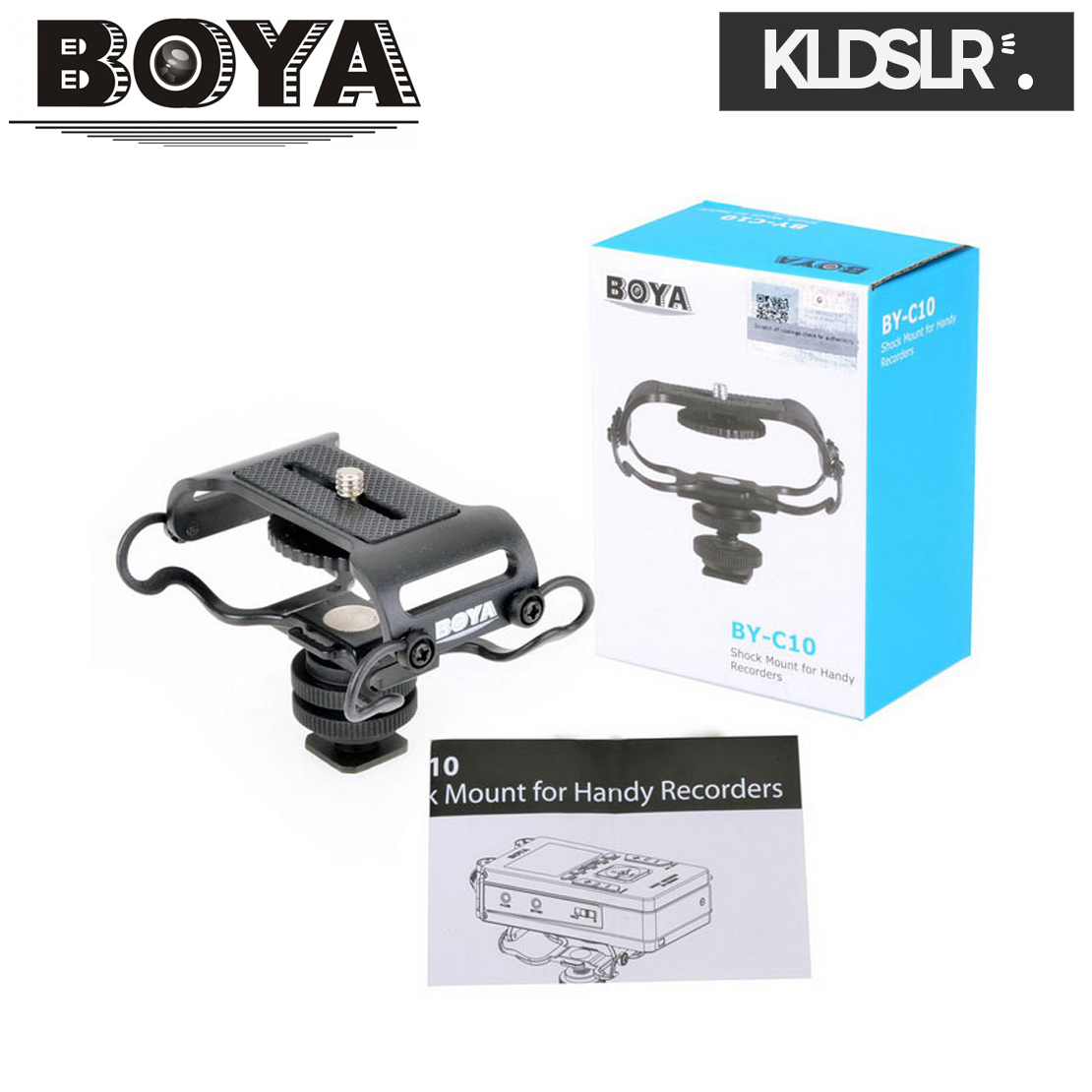 BOYA BY-C10 Anti-Shake Mount Base Shock Mount for Portable Handy Digital Audio Recorder DSLR
