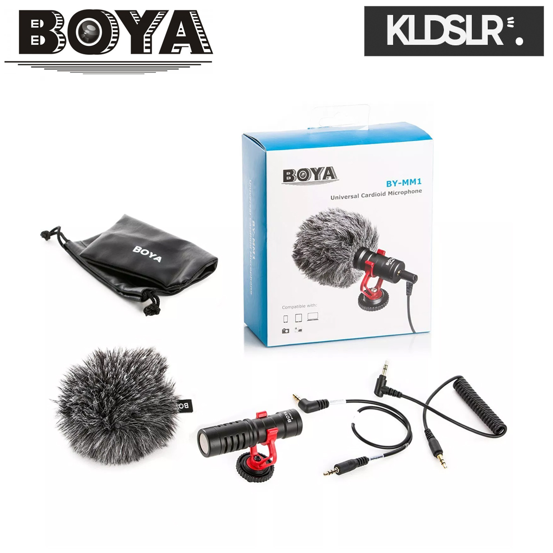 BOYA Universal Compact Shotgun Microphone BY-MM1
