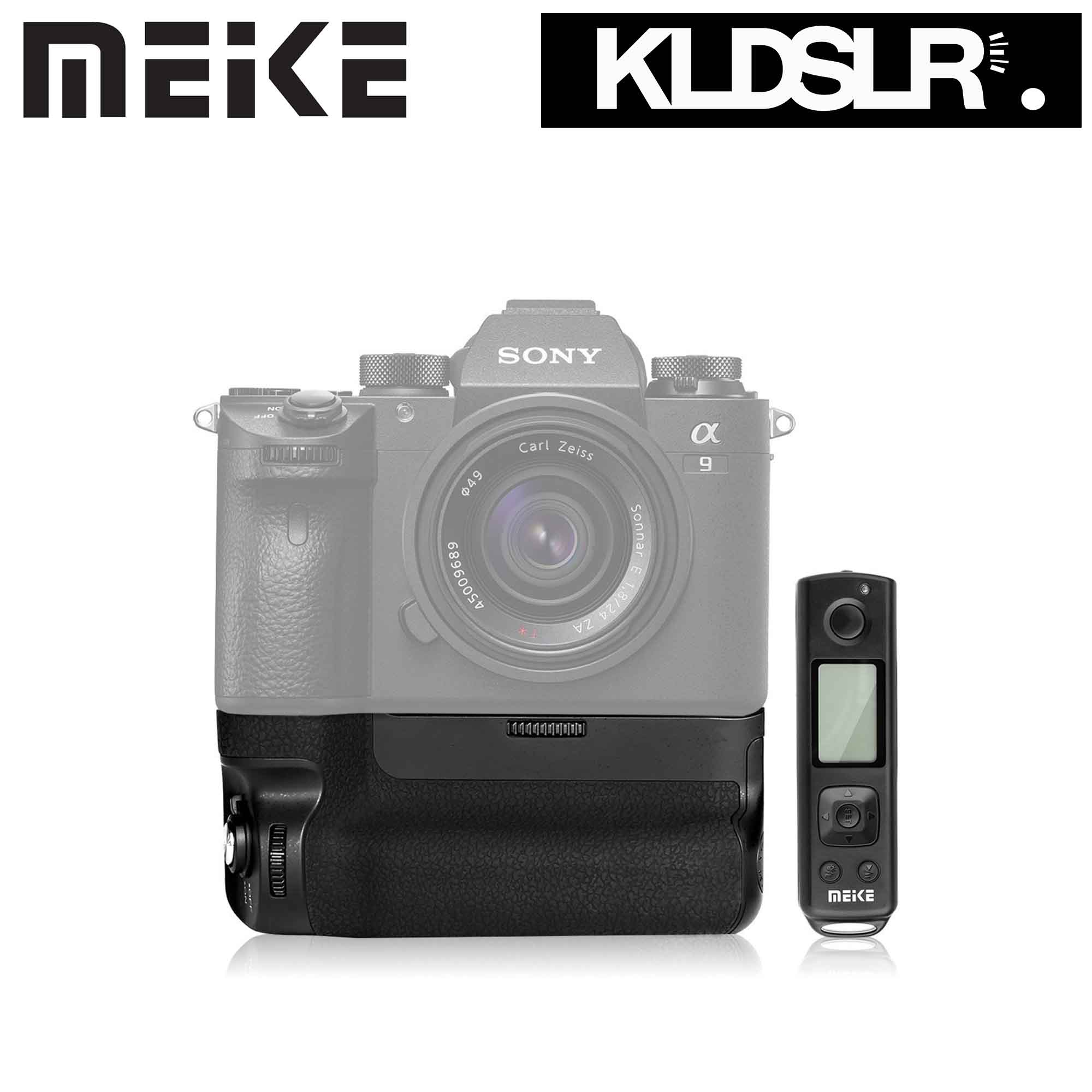 Meike The New MK A9 Pro Battery Grip Built-in 2.4GHz Remote Controller Up to 100M to Control shooting Vertical-shooting Function for Sony A9 A7RIII camera
