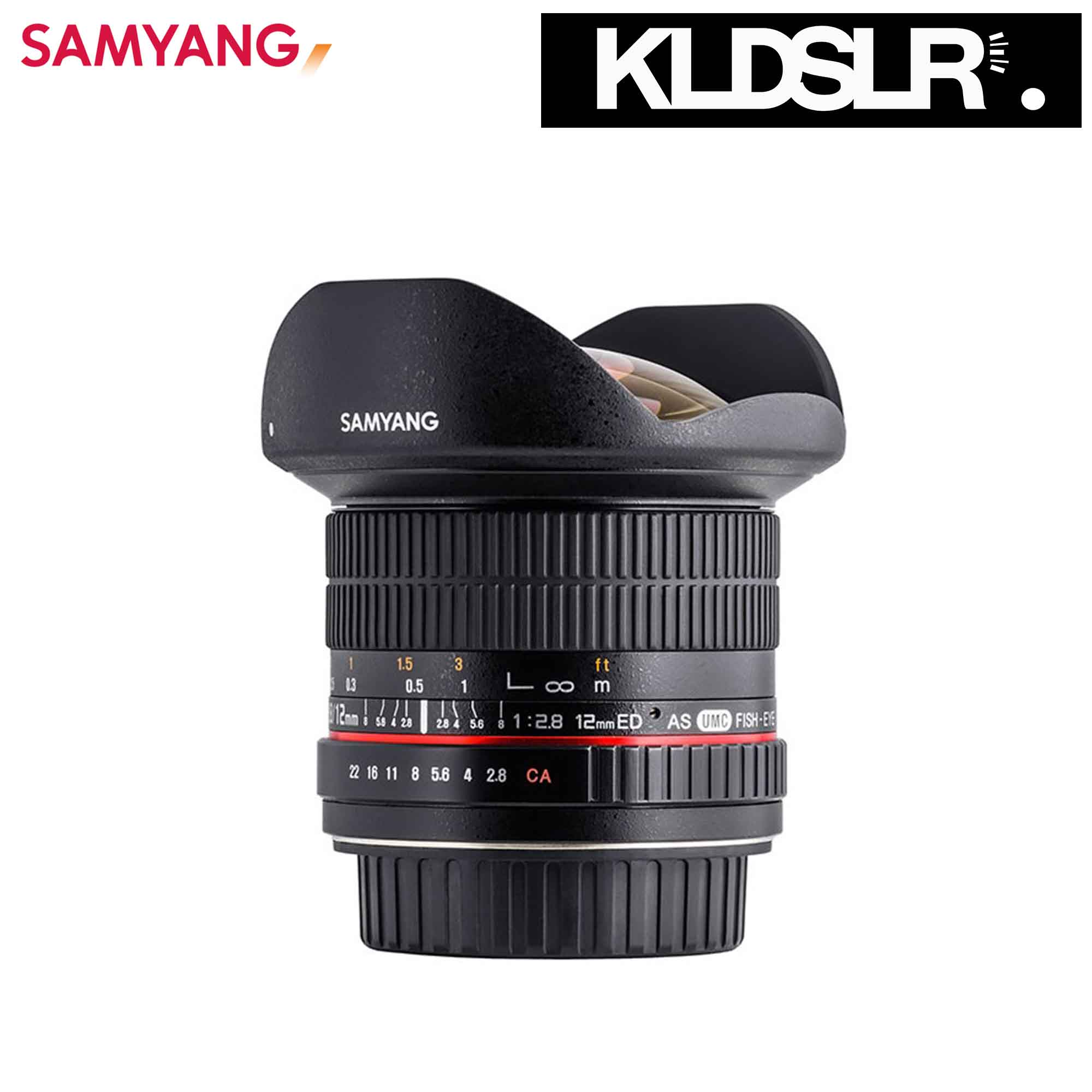 06 Samyang 12mm f2.8 ED AS IF NCS UMC Fisheye Lens for (Canon)