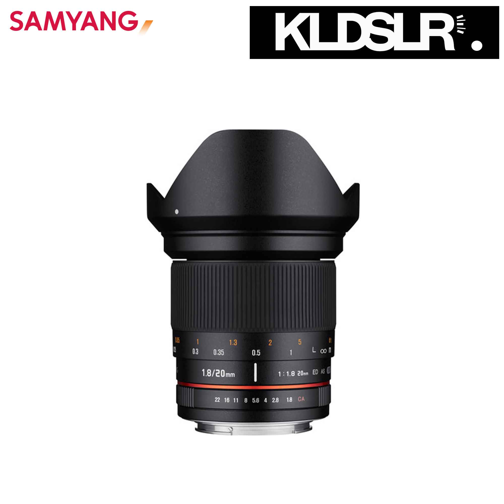 06 Samyang 20mm f1.8 ED AS UMC Lens for Fuji X