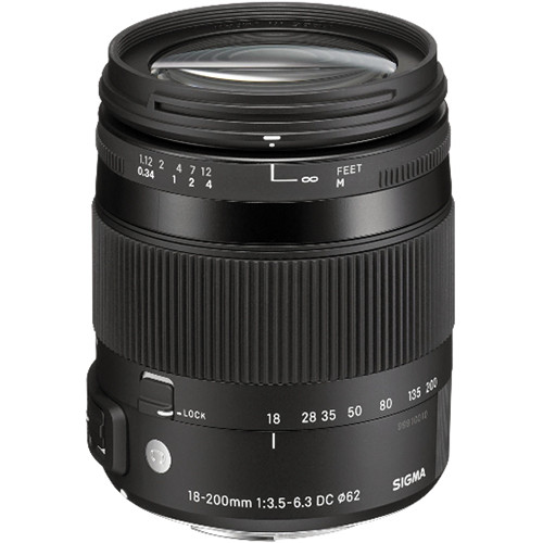 Sigma 18-200mm f3.5-6.3 DC Macro OS HSM Lens for Canon Digital Cameras (Sigma Malaysia)