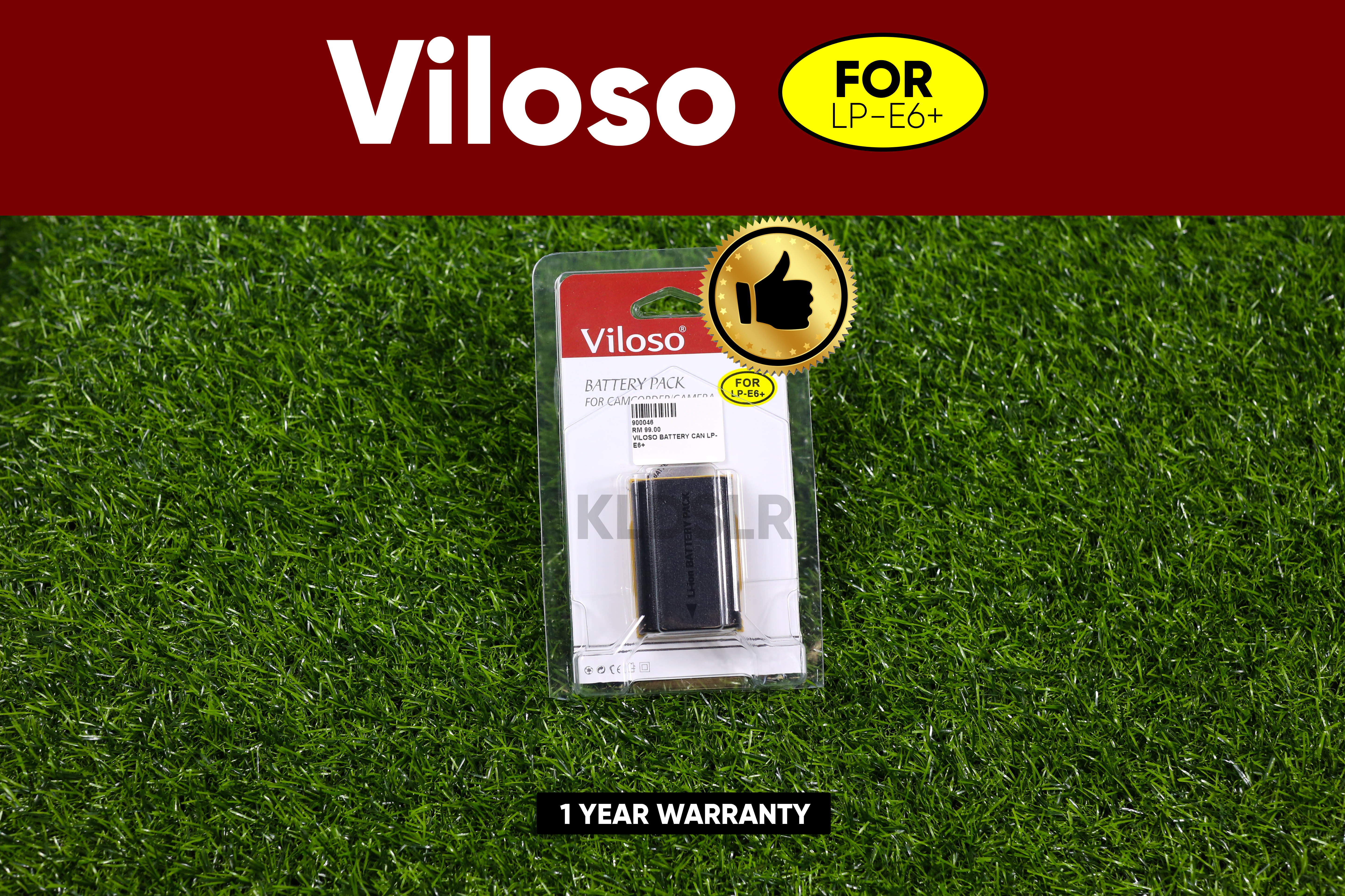 (Ready Stock) Viloso Battery Canon LP-E6+