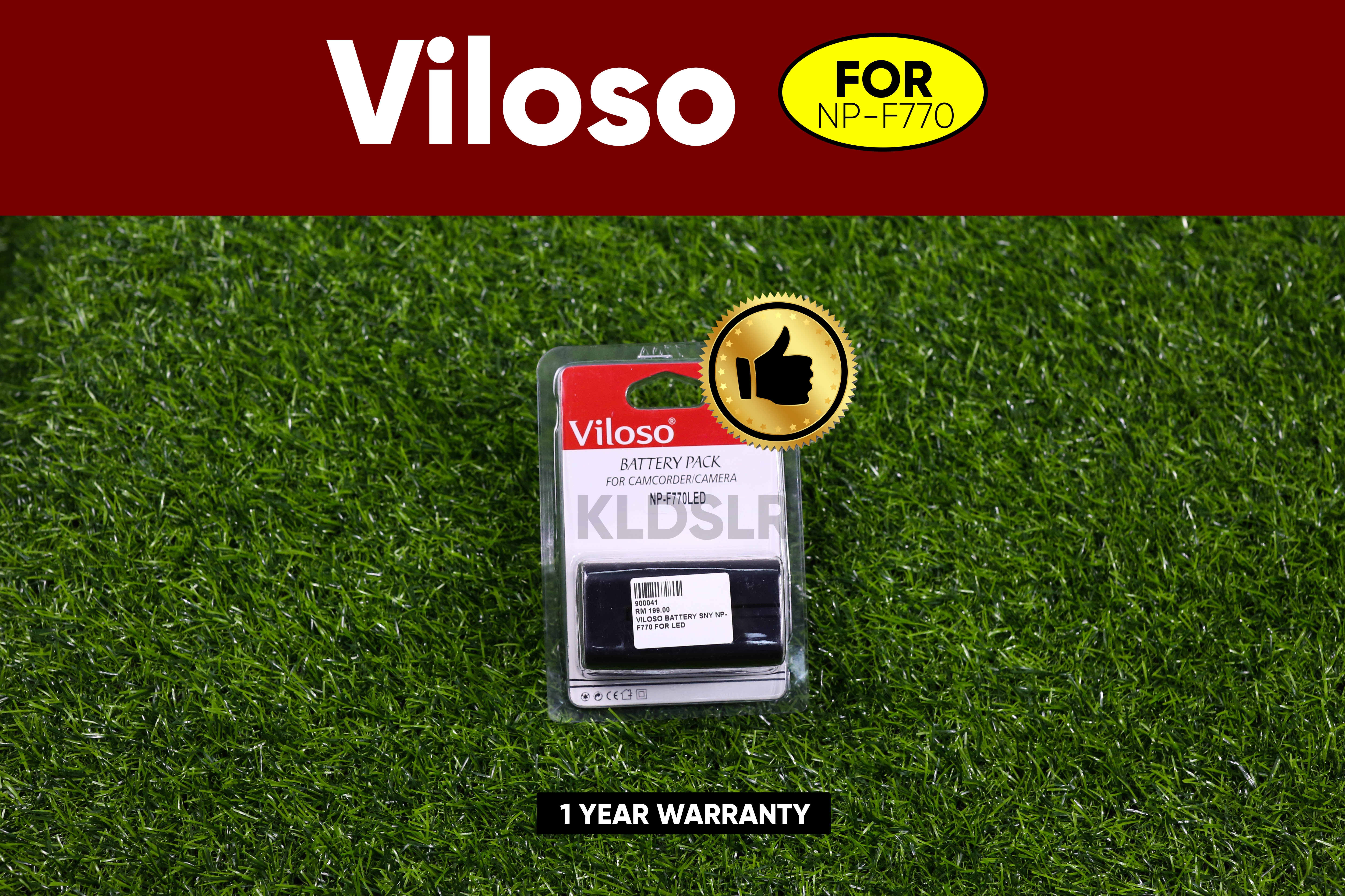 (Ready Stock) Viloso Full Decode Battery For Sony NP-F330 NP-F550 NP-F730H NP-F770 NP-F930 NP-F975
