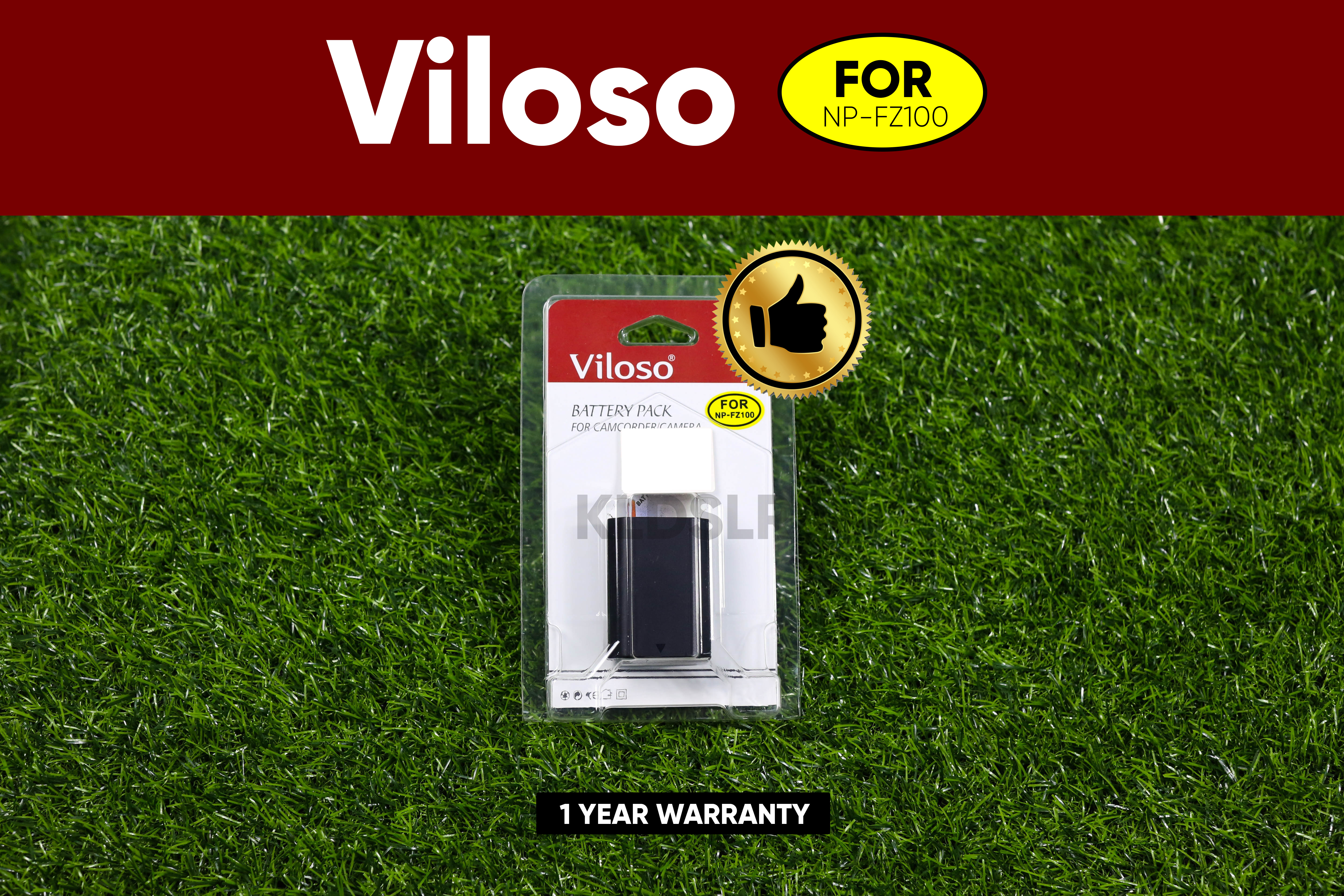 (Ready Stock) Viloso NP-FZ100 Battery For Sony A7III A9 A7RIII (FZ100) (NEW Version 2200MAH) (1 Year 1-1 Exchange warranty)