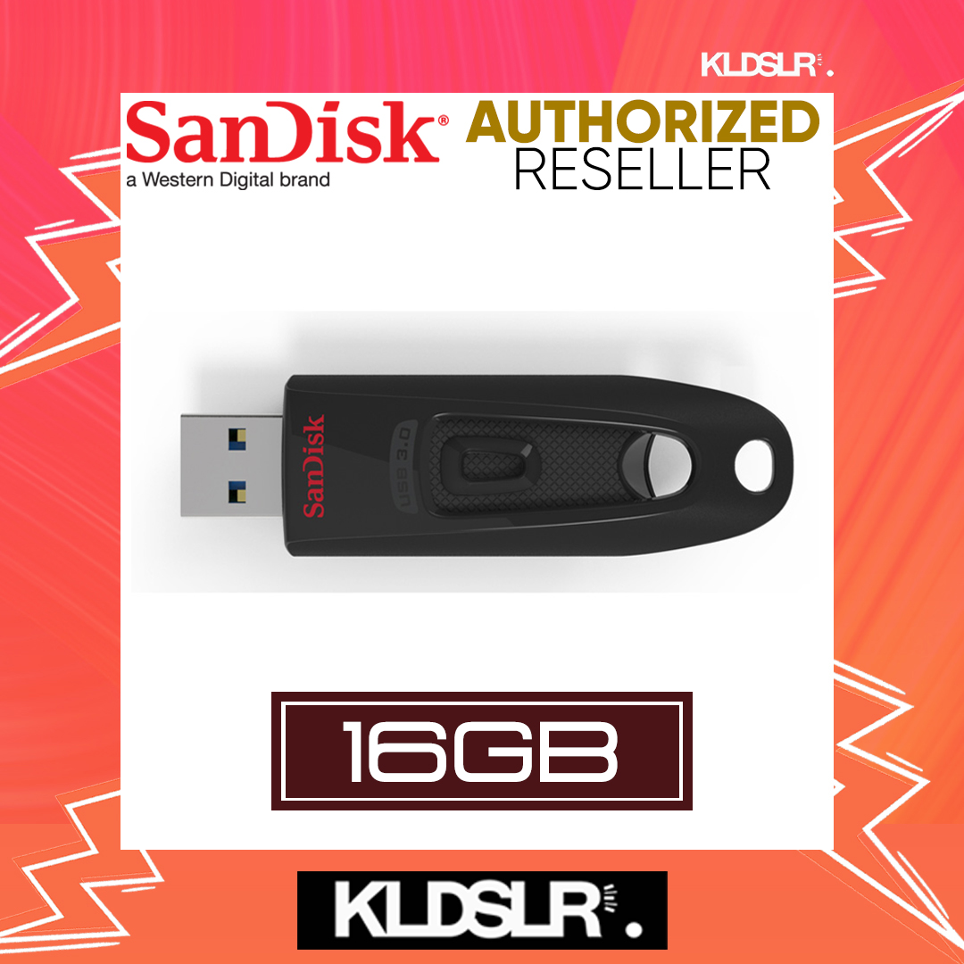 SanDisk Cruzer Ultra 16GB High Speed USB 3.0 100MB/S Flash Drive (SDCZ48-016G-U46) Pendrive (SanDisk Malaysia)