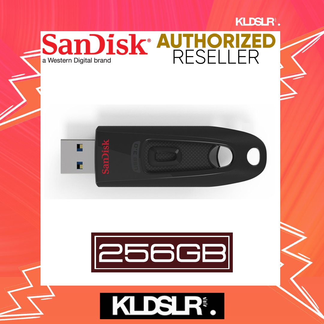 SanDisk Cruzer Ultra 256GB High Speed USB 3.0 100MB/S Flash Drive (SDCZ48-256G-U46) Pendrive (SanDisk Malaysia)