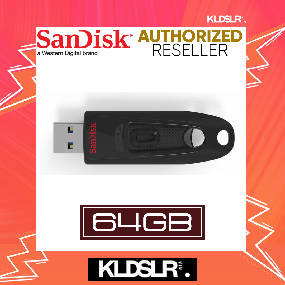 SanDisk Cruzer Ultra 64GB High Speed USB 3.0 100MB/S Flash Drive (SDCZ48-064G-U46) Pendrive (SanDisk Malaysia)