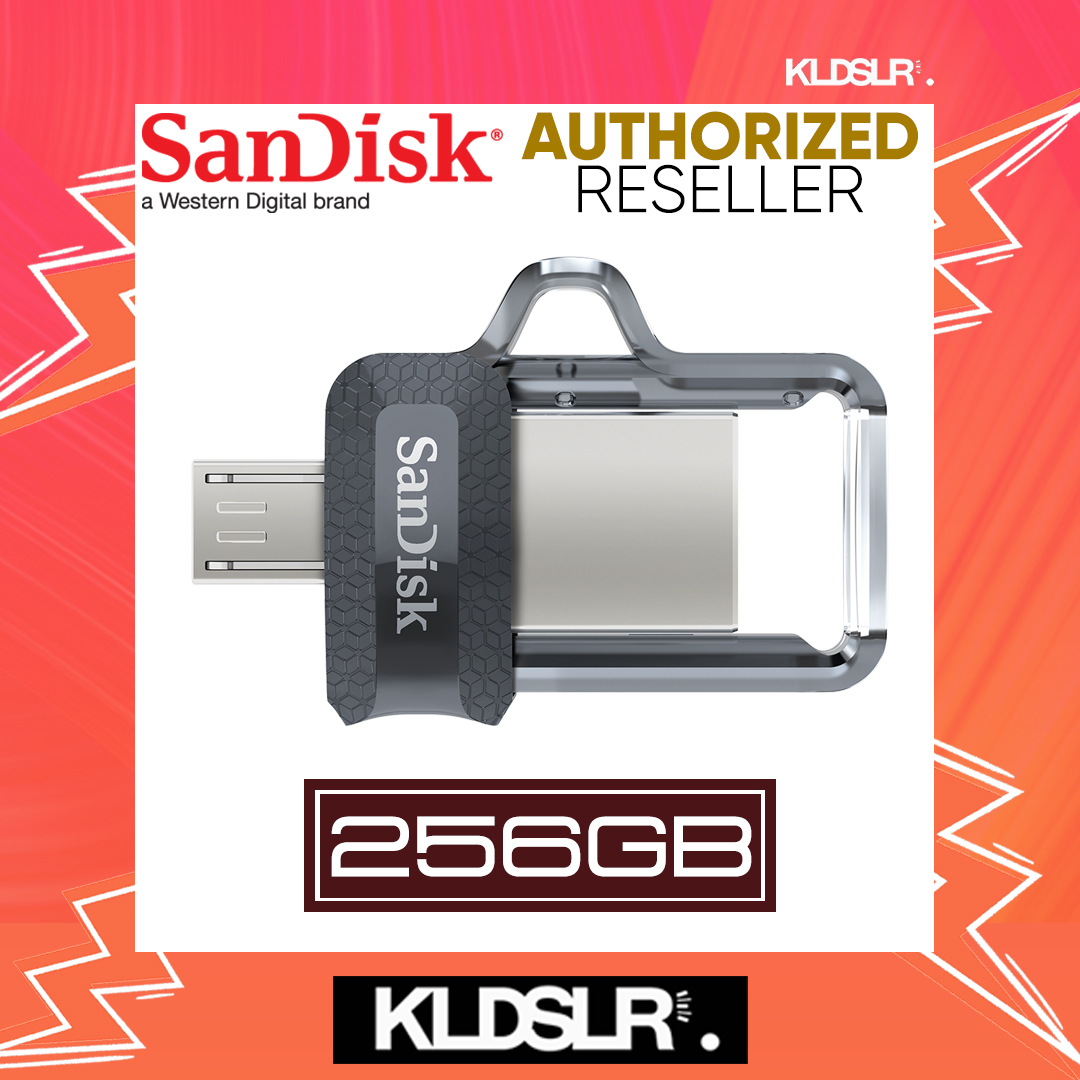 SanDisk Ultra Dual Drive 256GB m3.0 OTG USB Flash Drive for Android & Computers (SDDD3-256G-G46) (SanDisk Malaysia)