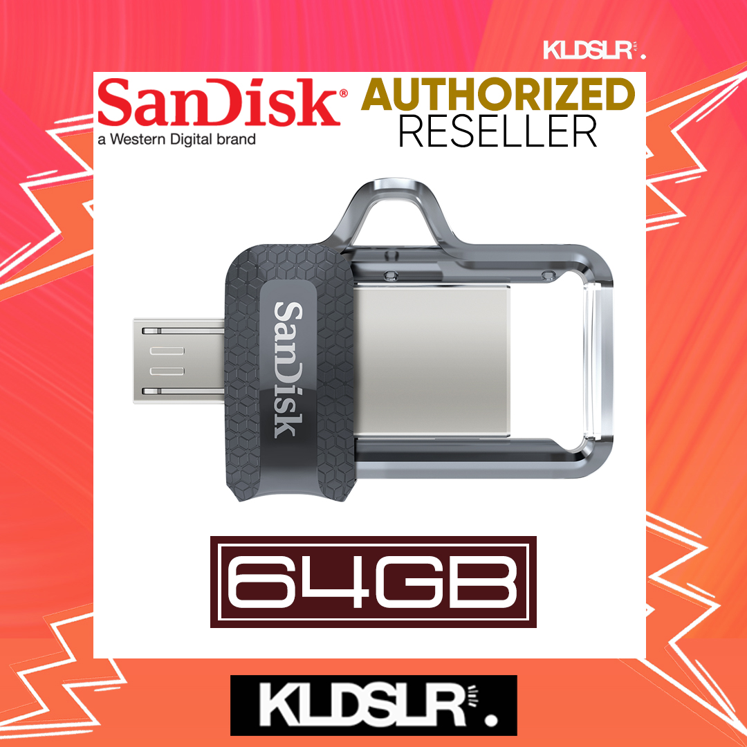 SanDisk Ultra Dual Drive 64GB m3.0 OTG USB Flash Drive for Android & Computers (SDDD3-064G-G46) (SanDisk Malaysia)