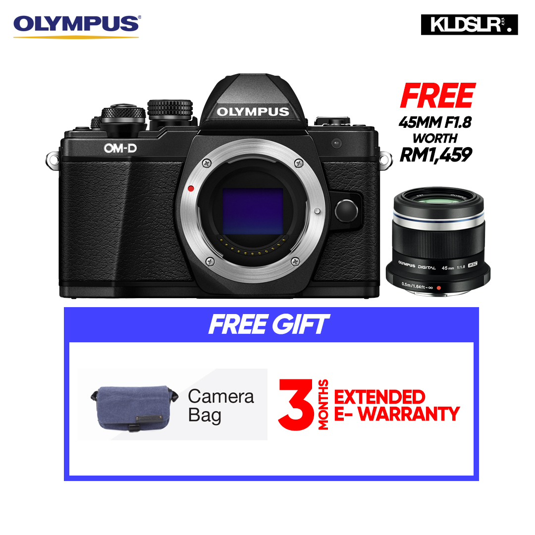 (END YEAR SALE)  Olympus OMD EM10 Mark II Mirrorless Micro Four Thirds Digital Camera (Body Only, Black) (Olympus Malaysia)(PWP 40-150mm R F4-5.6 Lens & Hand Grip ECG-3 For E-M10 Mark II)  (To Be Confirm)