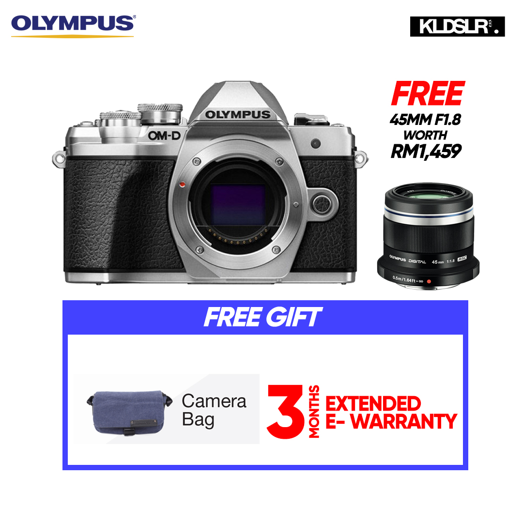 (END YEAR SALE) Olympus OM-D E-M10 Mark III Mirrorless Micro Four Thirds Digital Camera (Body Only, Silver) (Olympus Malaysia)(PWP 40-150mm R F4-5.6 Lens & Hand Grip ECG-3 For E-M10 Mark II)  (To Be Confirm)