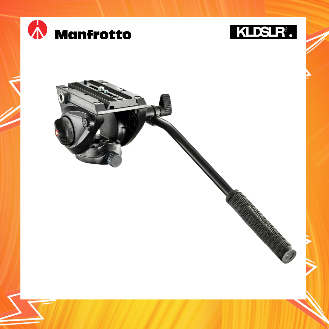 Manfrotto Fluid Video Head with Flat Base - #MVH500AH