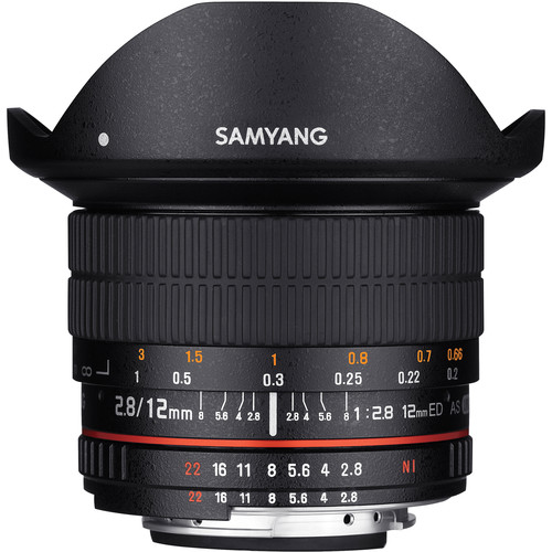 06 Samyang 12mm f2.8 ED AS NCS Fisheye Lens for Nikon F Mount with AE Chip