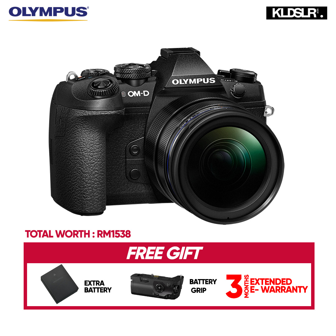 (RAYA) Olympus OM-D E-M1 Mark II Mirrorless Micro Four Thirds Camera with 12-40mm f/2.8 PRO Lens (Olympus Malaysia)(Free Extra Battery + Battery Grip) (EM1)