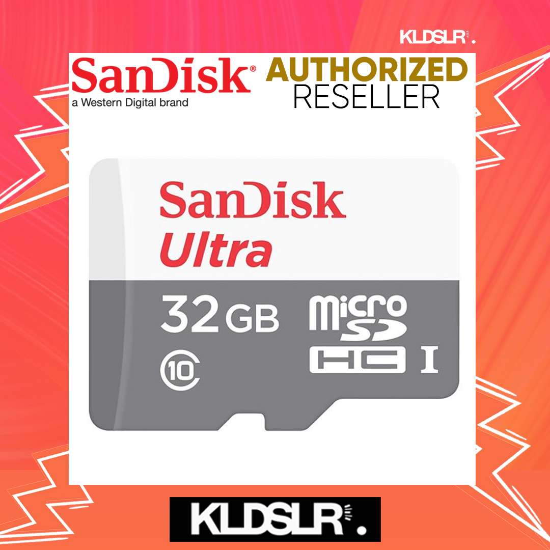SanDisk Ultra 32GB 80MB/s C10 UHS-I Class 10 microSDHC Card (SDSQUNS-032G-GN3MN) (SanDisk Malaysia)