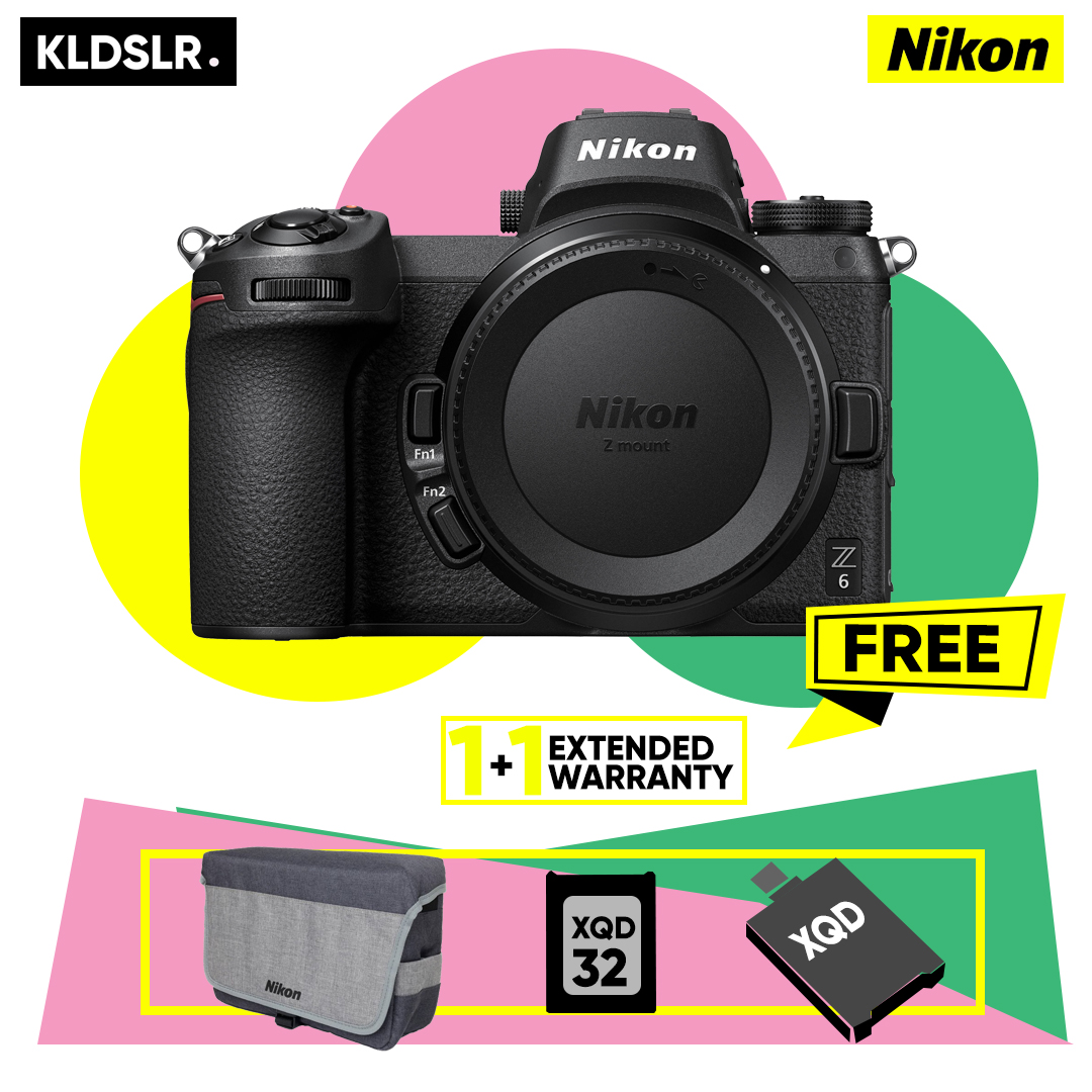 (Ready Stock) Nikon Z6 Mirrorless Digital Camera (Nikon Malaysia) (FREE Nikon Z Series Bag, 32GB XQD Card & XQD Card Reader)