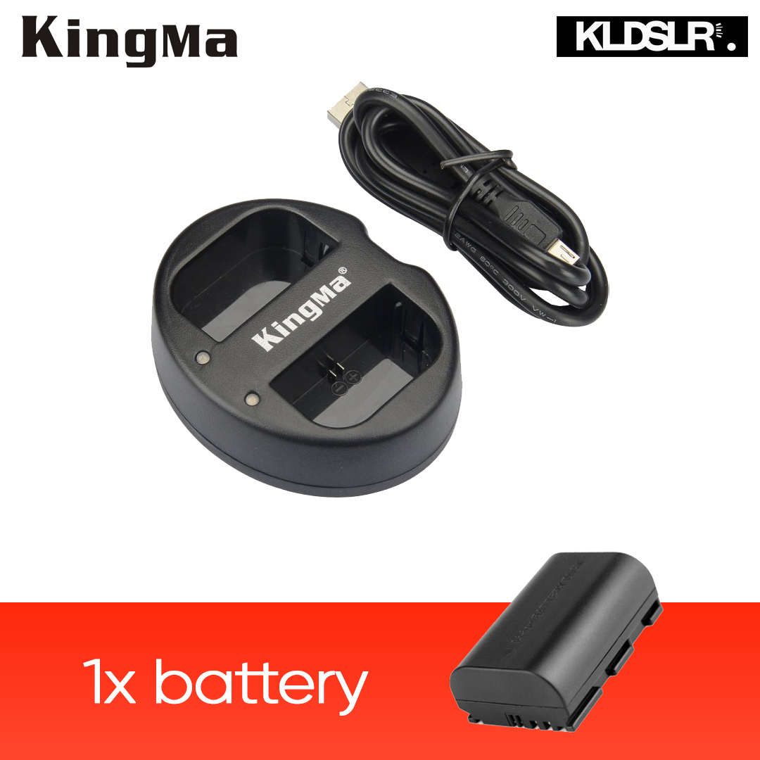 KingMa Dual Charger + 1 x Replacement Canon LP-E6