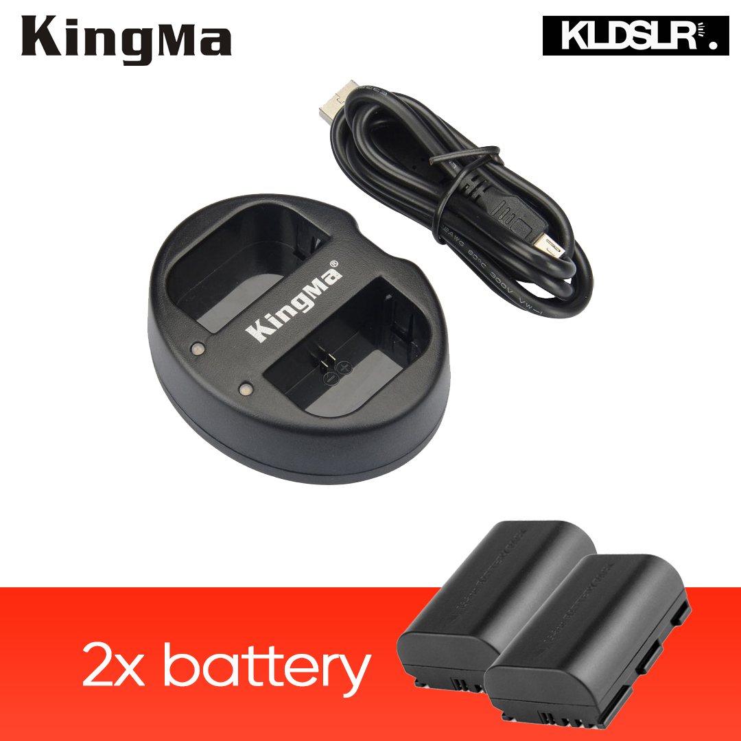 KingMa Dual Charger + 2 x Replacement Canon LP-E6