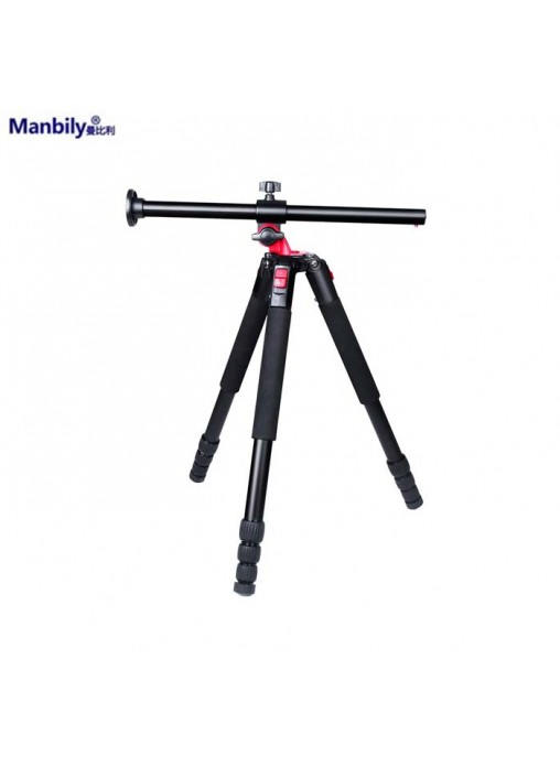 Manbily MPT-284 4-section Articulate-able Center Column Aluminium Tripod