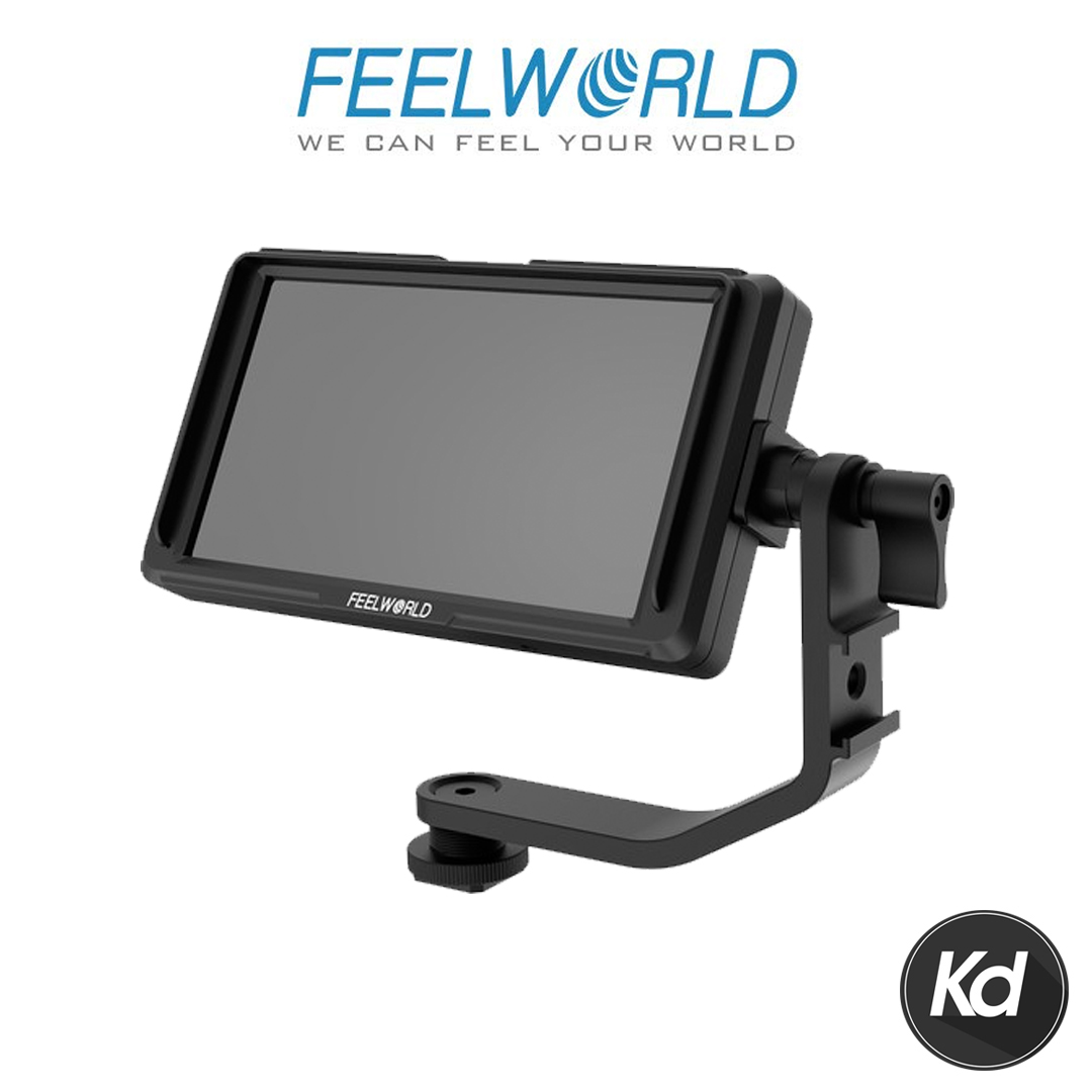 "FeelWorld F5 5.0"" Full HD HDMI On-Camera Monitor with 4K Support and Tilt Arm"