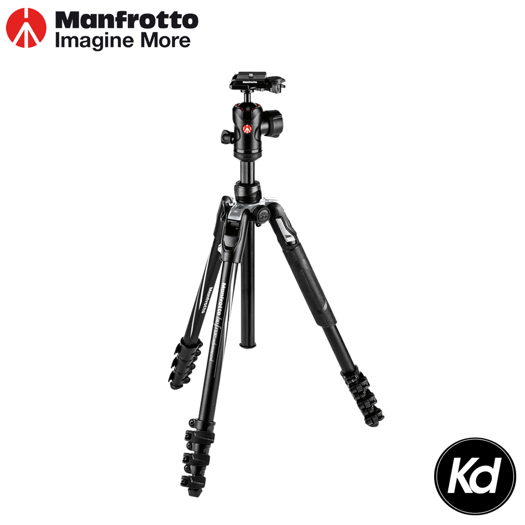 Manfrotto Befree Advanced Trave0l Aluminum Tripod with 494 Ball Head (Lever Locks, Black) (MKBFRLA4BK-BH)