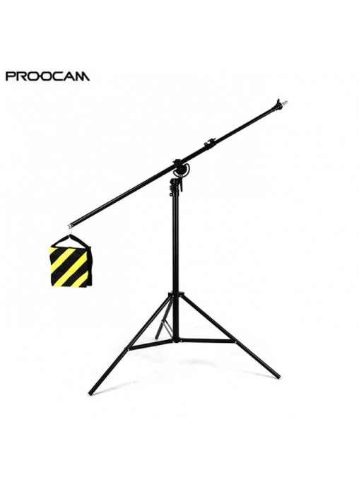 Proocam BS-280 2-in-1 Boom Stand & Light Stand Kit