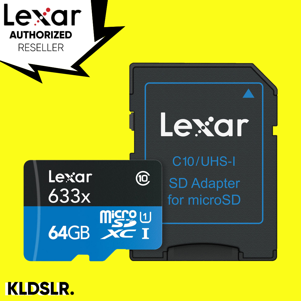Lexar High-Performance 64GB 633x microSDXC UHS-I Memory Card with SD Adapter (LSDMI64GBBAP633A)