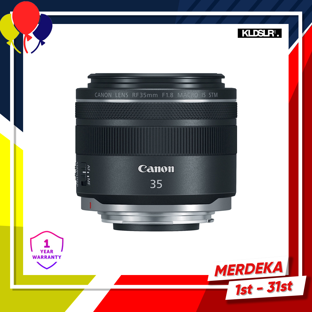 Canon RF 35mm f1.8 IS Macro STM Lens (New 3 Months Warranty)