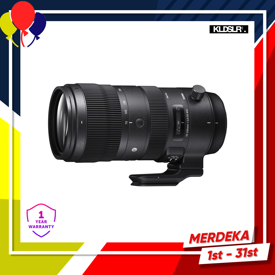 Sigma 70-200mm f/2.8 DG OS HSM Sports Lens for Nikon F (New 3 Months Warranty)
