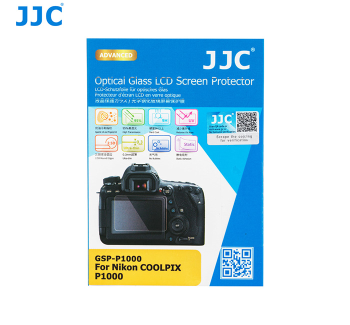 JJC GSP-P1000 Ultra-thin Glass LCD Screen Protector for NIKON COOLPIX P1000