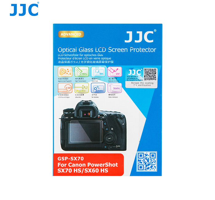 JJC GSP-SX70 Ultra-thin Glass LCD Screen Protector for CANON POWERSHOT SX70 HS / SX60 HS