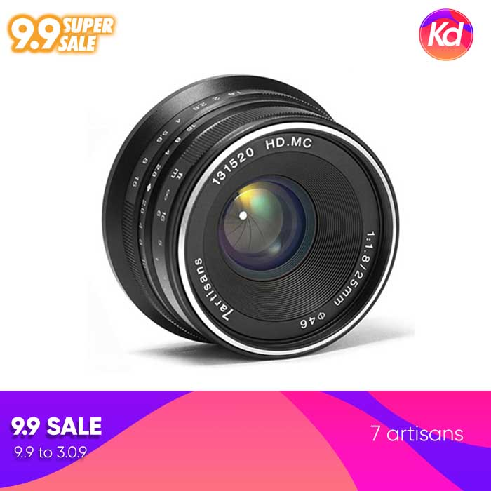 (Clearance) 7artisans Photoelectric 25mm f/1.8 Lens for Sony E-Mount Cameras (Black)