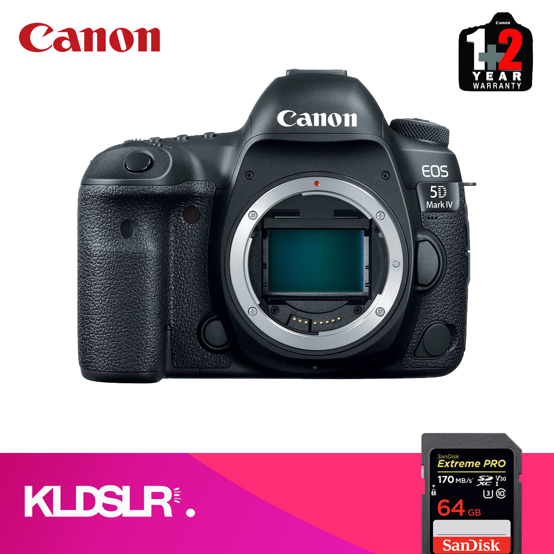Canon EOS 5D Mark IV DSLR Camera (Body Only) (Canon Malaysia) (FREE 64GB High Speed Memory Card) (5D4 / 5DIV)