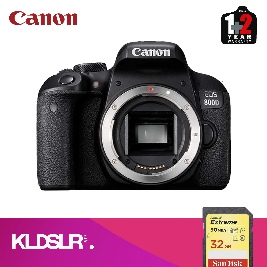 Canon 800D DSLR Camera ( Body Only) (Canon Malaysia) (FREE 32GB Memory Card Card)