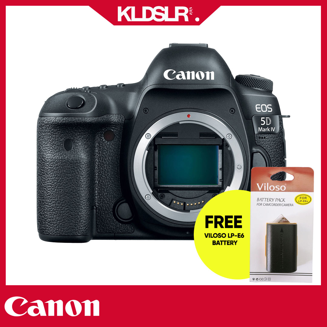 Canon EOS 5D Mark IV DSLR Camera (Body Only) (NEW THREE (3) MONTH WARRANTY) (FREE Canon LP-E6 Battery) (5D4)