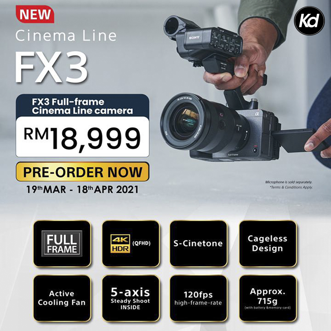 Sony FX3 Full-Frame Cinema Camera (Sony Malaysia)